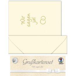 URSUS Einladungskarten - Hochzeit Wir sagen JA Set chamois