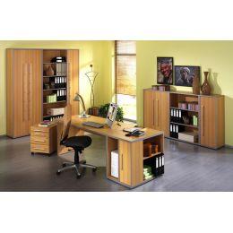 Wellemöbel Büromöbel-Kombination 2 TOOL, Buche-
