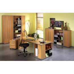Wellemöbel Büromöbel-Kombination 2 TOOL, Kirschbaum-