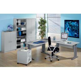 Wellemöbel Büromöbel-Kombination 2 BÜRO AKTION, Buche-
