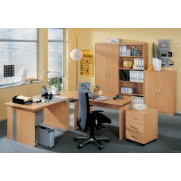 Wellemöbel Büromöbel-Kombination 1 BÜRO AKTION, Ahorn-