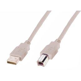 DIGITUS USB 2.0 Anschlusskabel, USB-A - USB-B Stecker, 1,8 m