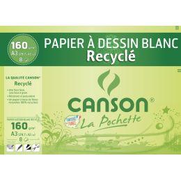 CANSON Zeichenpapier Recycling, weiß, DIN A3, 160 g/qm