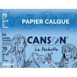 CANSON Transparentpapier, 240 x 320 mm, 70 g/qm