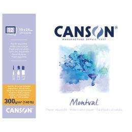 CANSON Aquarellblock Montval, rundum geleimt, 300 x 400 mm