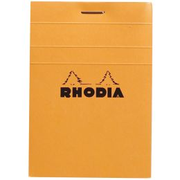 RHODIA Notizblock No. 11, DIN A7, kariert, orange