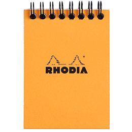 RHODIA Spiralnotizblock No. 11, DIN A7, kariert, orange