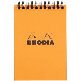 RHODIA Spiralnotizblock No. 13, DIN A6, kariert, orange