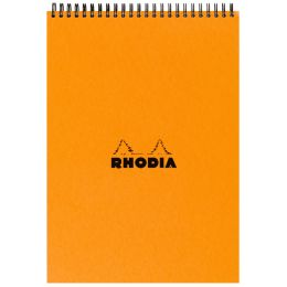 RHODIA Spiralnotizblock No. 18, DIN A4, kariert, orange