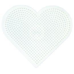 Hama Stiftplatte großes Herz, weiß