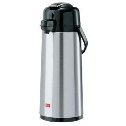 Melitta Pump-Isolierkanne, 2,2 Liter, silber / schwarz