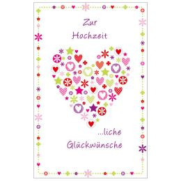 SUSY CARD Hochzeitskarte Herz aus Elementen