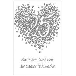 SUSY CARD Hochzeitskarte - Silberhochzeit Herz
