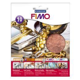 FIMO Blattmetall, kupfer, 10 Blatt