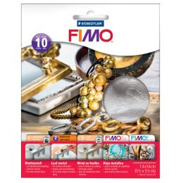 FIMO Blattmetall, silber, 10 Blatt