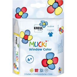 KREUL Window Color Pen MUCKI, 4er-Set