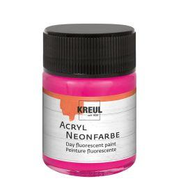 KREUL Acryl-Neonfarbe im Glas, neonpink, 50 ml