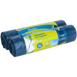 Secolan Abfallsack, mit Zugband, blau/schwarz, 120 Liter