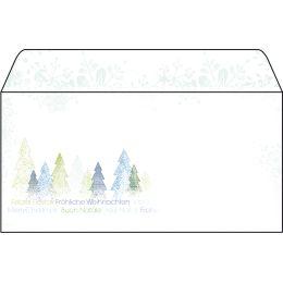 sigel Weihnachts-Umschlag Trees, DIN lang, 90 g/qm
