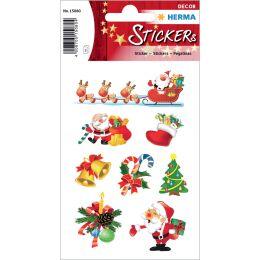 HERMA Weihnachts-Sticker DECOR Santa Claus