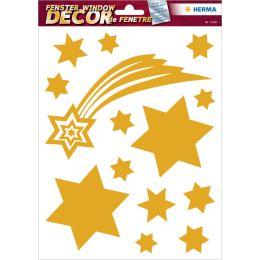 HERMA Weihnachts-Fensterbild Sterne, gold