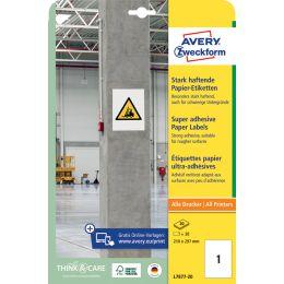 AVERY Zweckform Stark haftende Papier-Etiketten, 45,7x21,2mm
