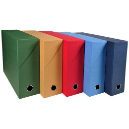EXACOMPTA Archivbox, DIN A4, Karton, 90 mm, dunkelblau