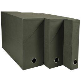 EXACOMPTA Archivbox, DIN A4, Karton, 90 mm, dunkelgrün