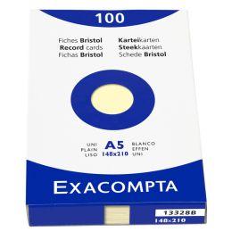 EXACOMPTA Karteikarten, DIN A5, blanko, rosa