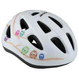 FISCHER Kinder-Fahrrad-Helm Eule, Größe: XS/S
