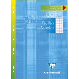 Clairefontaine Feuillets mobiles, A4, Séyès, 100 pages