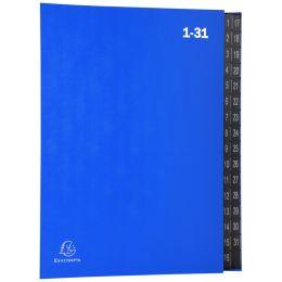 EXACOMPTA Pultordner, DIN A4, 1-31, 32 Fächer, blau