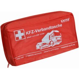 KALFF KFZ-Verbandtasche Kompakt, Inhalt DIN 13164, rot