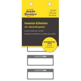 AVERY Zweckform Inventar-Etiketten, abziehsicher, schwarz