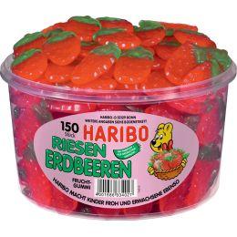 HARIBO Fruchtgummi RIESEN ERDBEEREN, 150er Runddose