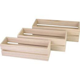 KREUL Holzbox, rechteckig, 3er Set
