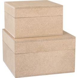 KREUL Holzschachtel, quadratisch, 2er Set