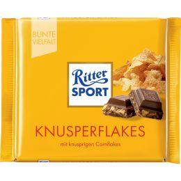 Ritter SPORT Tafelschokolade KNUSPERFLAKES, 100 g