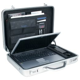 ALUMAXX Laptop-Attaché-Koffer MERCATO, Aluminium, silber