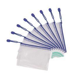 tarifold Reißverschlusstasche ZIPPER, DIN A6, PVC, blau