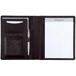 Alassio Schreibmappe BORMIO, DIN A5, Lederimitat, schwarz