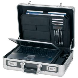 ALUMAXX Laptop-Attaché-Koffer CARBON, Aluminium