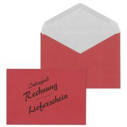MAILmedia Briefumschlag C6 Lieferschein/Rechnung, rot