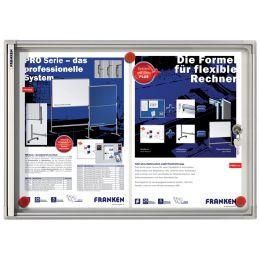FRANKEN Schaukasten X-tra!Line, 8 x DIN A4, Metall-Rückwand