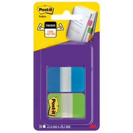Post-it Haftstreifen Index Strong, 25,4 x 38,1 mm, 2-farbig