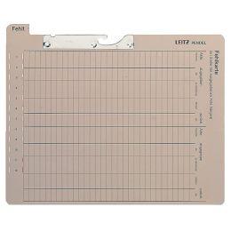 LEITZ Pendelfehlkarte, mit Tab Fehlt, grau