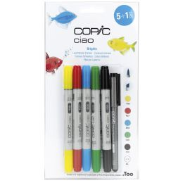 COPIC Hobbymarker ciao 5+1 Set, Leuchtende Farben