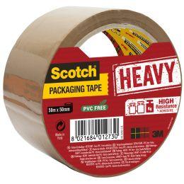3M Scotch Verpackungsklebeband HEAVY, 50 mm x 50 m, braun