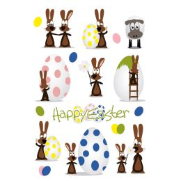 HERMA Oster-Sticker TREND Hasenparty