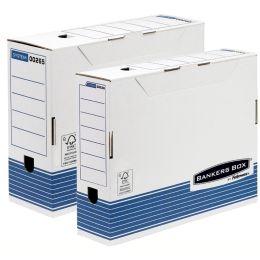 Fellowes BANKERS BOX SYSTEM Archiv-Schachtel, blau,(B)100 mm